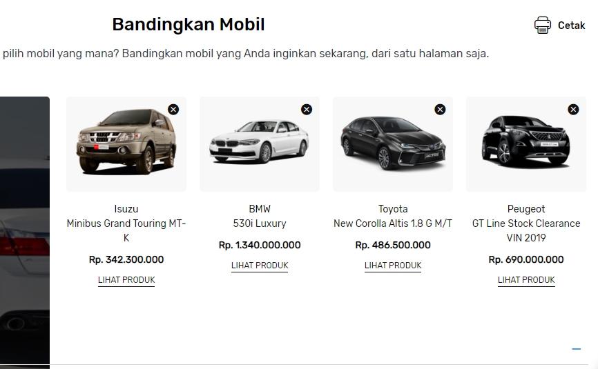 Bandingkan Mobil Seva Mobil Bekas